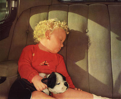 My Dad A Boy And His Dog 1932 Poster by John Haldane