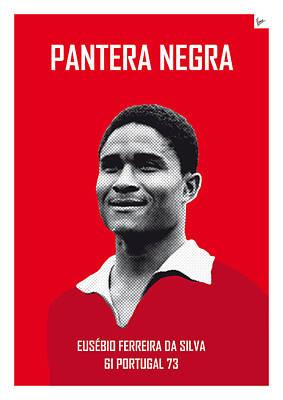 My Eusebio Soccer Legend Poster Poster by Chungkong Art