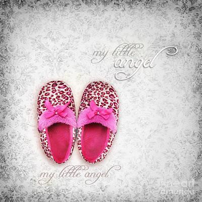 My Little Angel Bw Poster by Prajakta P