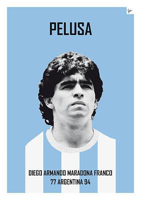 My Maradona Soccer Legend Poster Poster by Chungkong Art