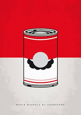 My Mario Warhols Minimal Can Poster-mario Poster by Chungkong Art