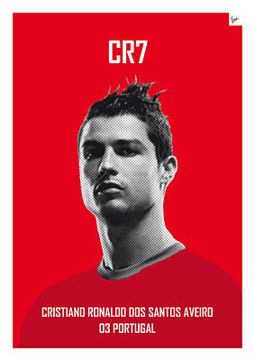 My Ronaldo Soccer Legend Poster Poster by Chungkong Art