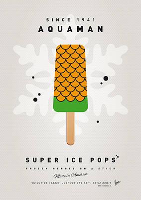 My Superhero Ice Pop - Aquaman Poster by Chungkong Art