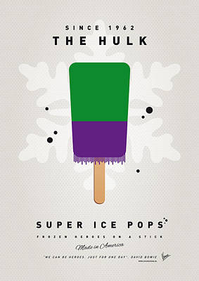 My Superhero Ice Pop - The Hulk Poster by Chungkong Art
