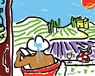 My Tuscany Dream 2 Poster by Xueling Zou