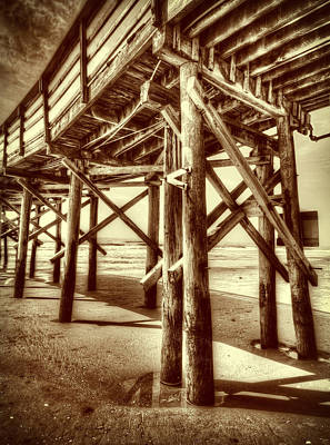Myrtle Pier  Poster by Mark Hazelton