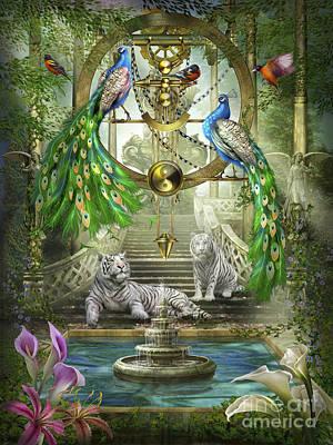 Gypsy Poster featuring the digital art Mystic Garden by Ciro Marchetti