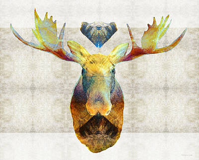 Mystic Moose Art By Sharon Cummings Poster by Sharon Cummings