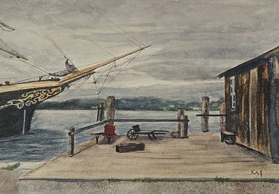Mystic Seaport Joseph Conrad And Clam Shack Poster by Patty Kay Hall