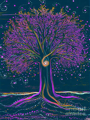 Mystic Spiral Tree 1 Purple Poster by First Star Art