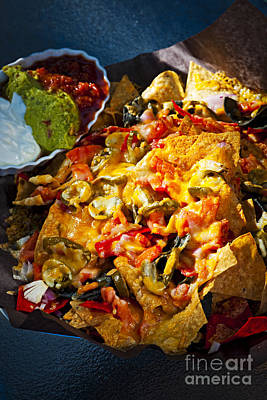 Nacho Basket With Cheese Poster by Elena Elisseeva