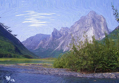 Nahanni Valley Poster by Wayne Bonney