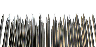 Nails Array Abstract Macro Poster by Allan Swart