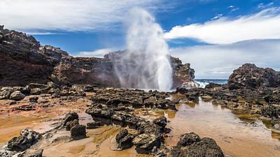 Nakalele Blow Hole Maui Poster by Pierre Leclerc Photography