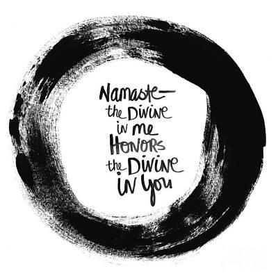 Namaste Enso Poster by Linda Woods