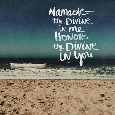 Namaste Waves  Poster by Linda Woods