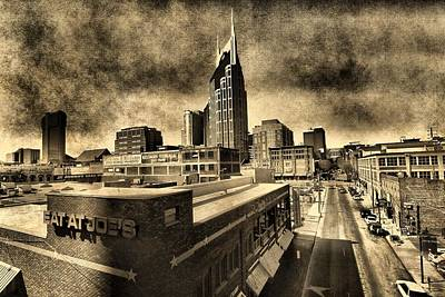 Nashville Grunge Poster by Dan Sproul