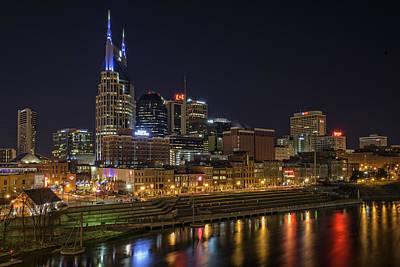 Nashville Skyline Poster by Rick Berk