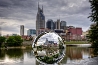 Nashville Through The Crystal Ball Poster by Brett Engle