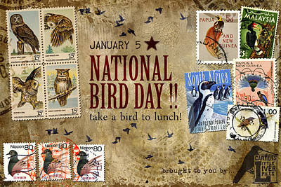 National Bird Day Poster by Carol Leigh