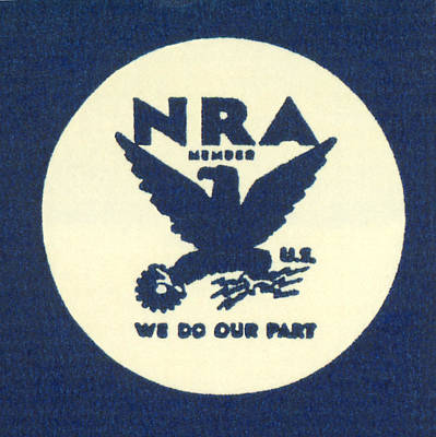 National Recovery Act Symbol Poster by Underwood Archives