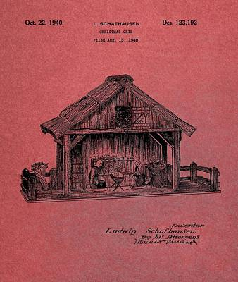 Nativity Scene Patent Poster by Dan Sproul