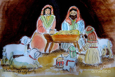 Nativity With Little Drummer Boy Poster by Patricia Januszkiewicz