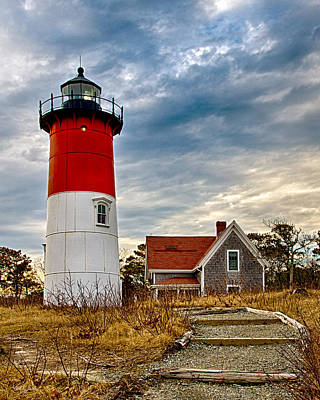 Nauset Light Eastward View Poster by Carl Jacobs