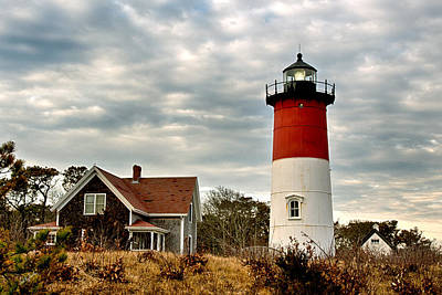 Nauset Light Northward View Poster by Carl Jacobs