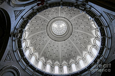 Naval Academy Chapel Dome Interior Poster by Olivier Le Queinec