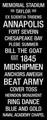 Navy College Town Wall Art Poster by Replay Photos