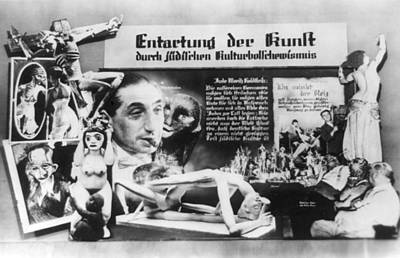 Nazi Anti-soviet Display Of Jewish Poster by Everett