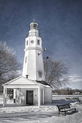 Neenah Lighthouse Poster by Joan Carroll