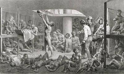 Slaves In The Bilge Poster by Johann Moritz Rugendas