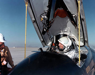 Neil Armstrong As X-15 Test Pilot Poster by Nasa