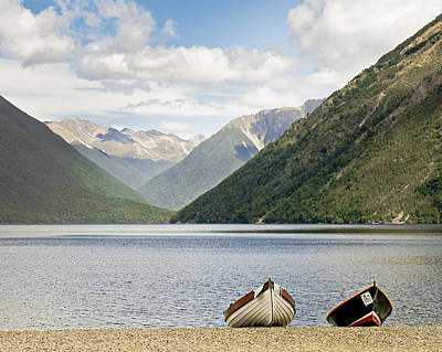 Nelson Lakes New Zealand Poster by Barbara Smith