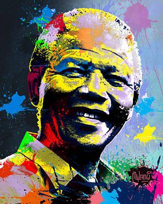 Nelson Mandela Madiba Poster by Anthony Mwangi