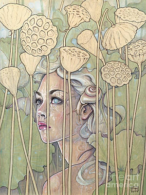 Nelumbo Poster by Fay Helfer