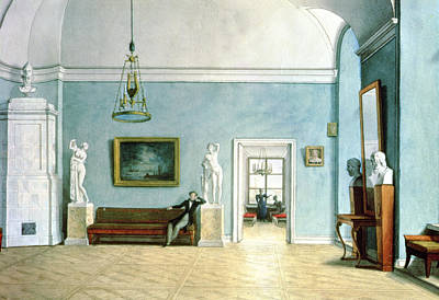Neo-classical Interior, C.1820 Wc On Paper Poster by Fedor Petrovich Tolstoy