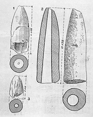 Neolithic Phallus Figures Poster by Granger