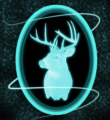 Neon Buck Poster by Shane Bechler