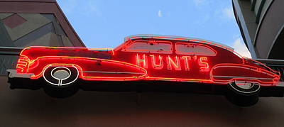 Neon Hunts Poster by Randall Weidner