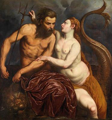 Neptune And Amphitrite Poster by Paris Bordone