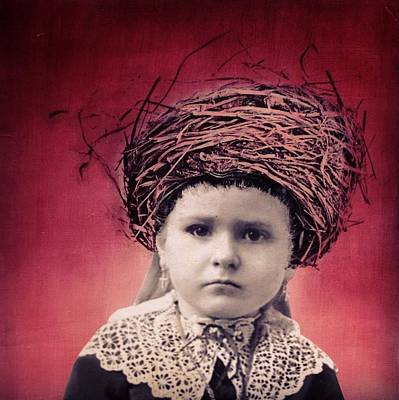 Nesting Series Girl With Lace Poster by Susan McCarrell