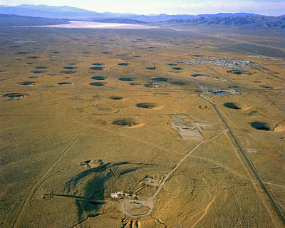 Nevada Test Site Atom Bomb Craters Poster by Los Alamos National Laboratory