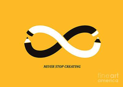 Infinity Pencil Poster by Nava Seas