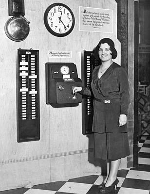 New Automatic Time Clock Poster by Underwood Archives