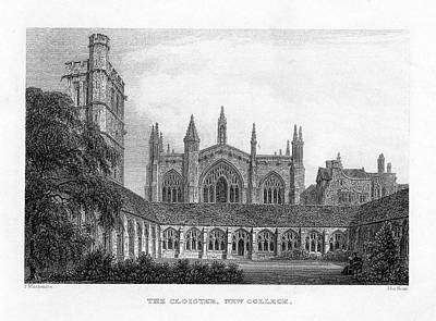 New College Cloisters Poster by Oxfordshire History Centre/oxford University Images