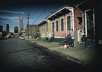 New Orleans Row Houses Poster by Mountain Dreams