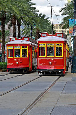 New Orleans Streetcars Poster by Christine Till